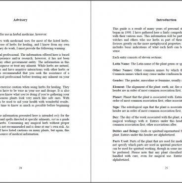 The Herbal Magic Correspondences Guide by Briana Blair