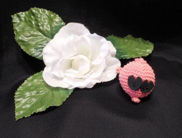Amigurumi Kawaii Pig Piglet Pink Cute Crocheted Keychain