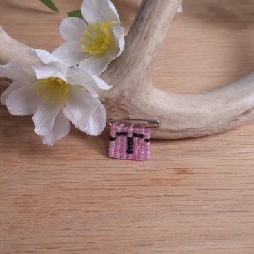 Beaded Pin Pink Taurus Zodiac Astrology Safety Pin Bead