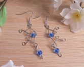Elvalien Flourish Earrings Frosted Glass Accents