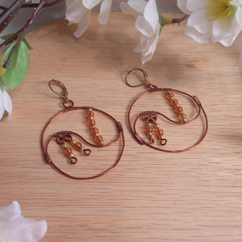Copper Yin Yang Hoop Earrings - Perfect Balance | BrianaDragon Creations