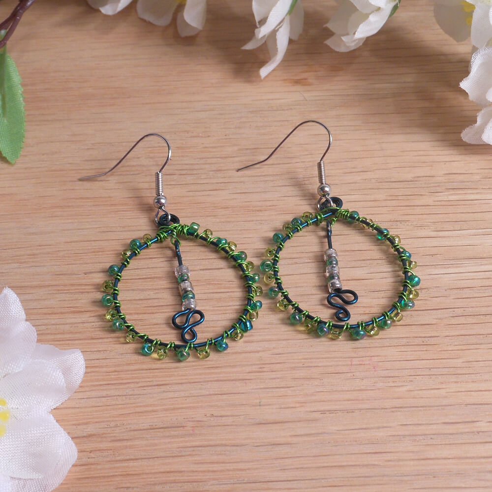earrings beaded beads to and make easy now wrap wire confettitbeadearrings