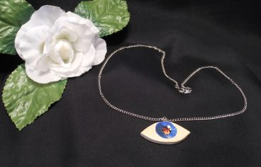 Sculpted and Hand Painted Eye Necklace