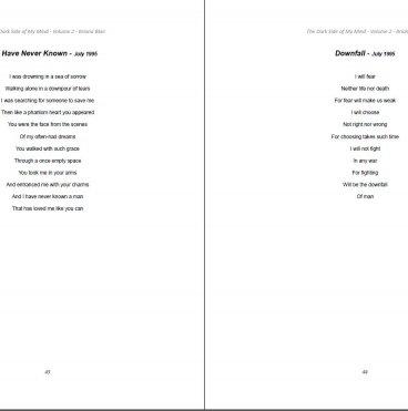 The Dark Side of My Mind – Volume 2 By Briana Blair
