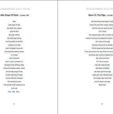 The Dark Side of My Mind – Volume 7 By Briana Blair