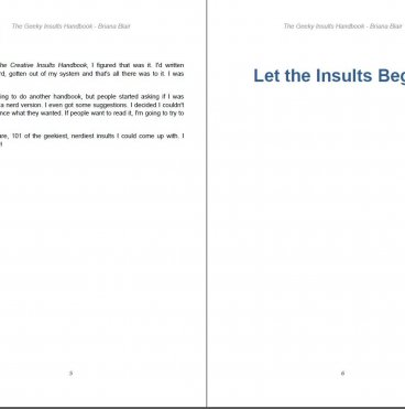 The Geeky Insults Handbook - 101 Geeky and Nerdy Insults By Briana Blair - Humor Ebook
