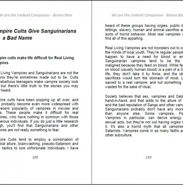 We Are the Undead, or Are We? Companion - A Collection of Vampire Articles By Briana Blair Ebook