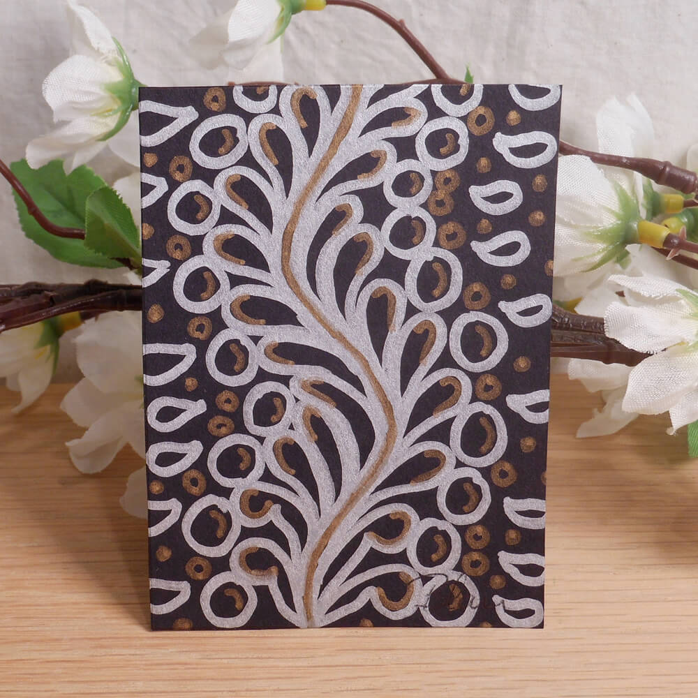 ACEO #11 Floating Up Flux Zen Tangle Art Card by Briana Blair