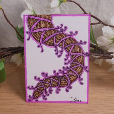 ACEO #2 Flowing Fantasy Brayd Zen Tangle Art Card by Briana Blair