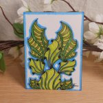 ACEO #3 Ocean Wonder Angel Fish Zen Tangle Doodle Art Card by Briana Blair 2
