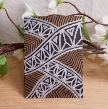 ACEO #4 Jewel Arch Tropicana Zen Tangle Art Card by Briana Blair