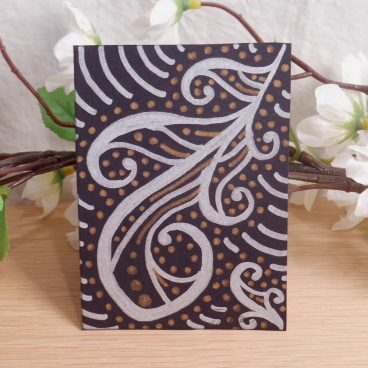 ACEO #9 Feather Flair Finery Zen Tangle Art Card by Briana Blair