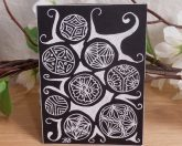 ACEO Floral Beads Zen Tangle Art Card by Briana Blair