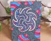ACEO Funky Starfish Zen Tangle Art Card by Briana Blair