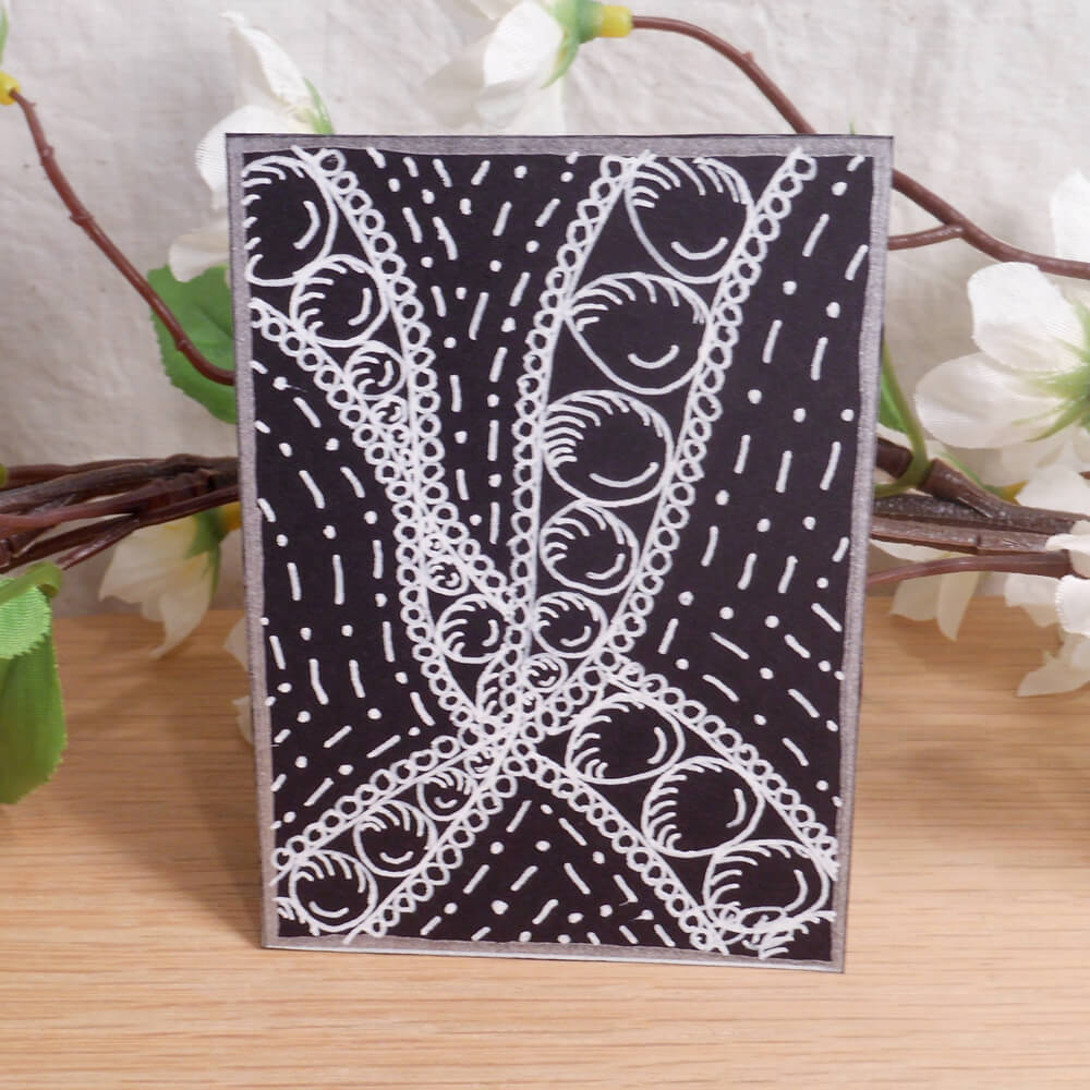 ACEO Pearl Lace Zen Tangle Art Card by Briana Blair