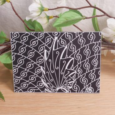 ACEO Shell Swirls Zen Tangle Art Card by Briana Blair
