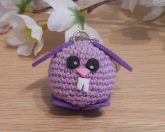 Amigurumi Kawaii Bunny Rabbit Lilac Purple Cute Crocheted Keychain 2