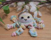 Amigurumi Kawaii Jellyfish Cnidaria Variegated Pastel Cute Crocheted Keychain