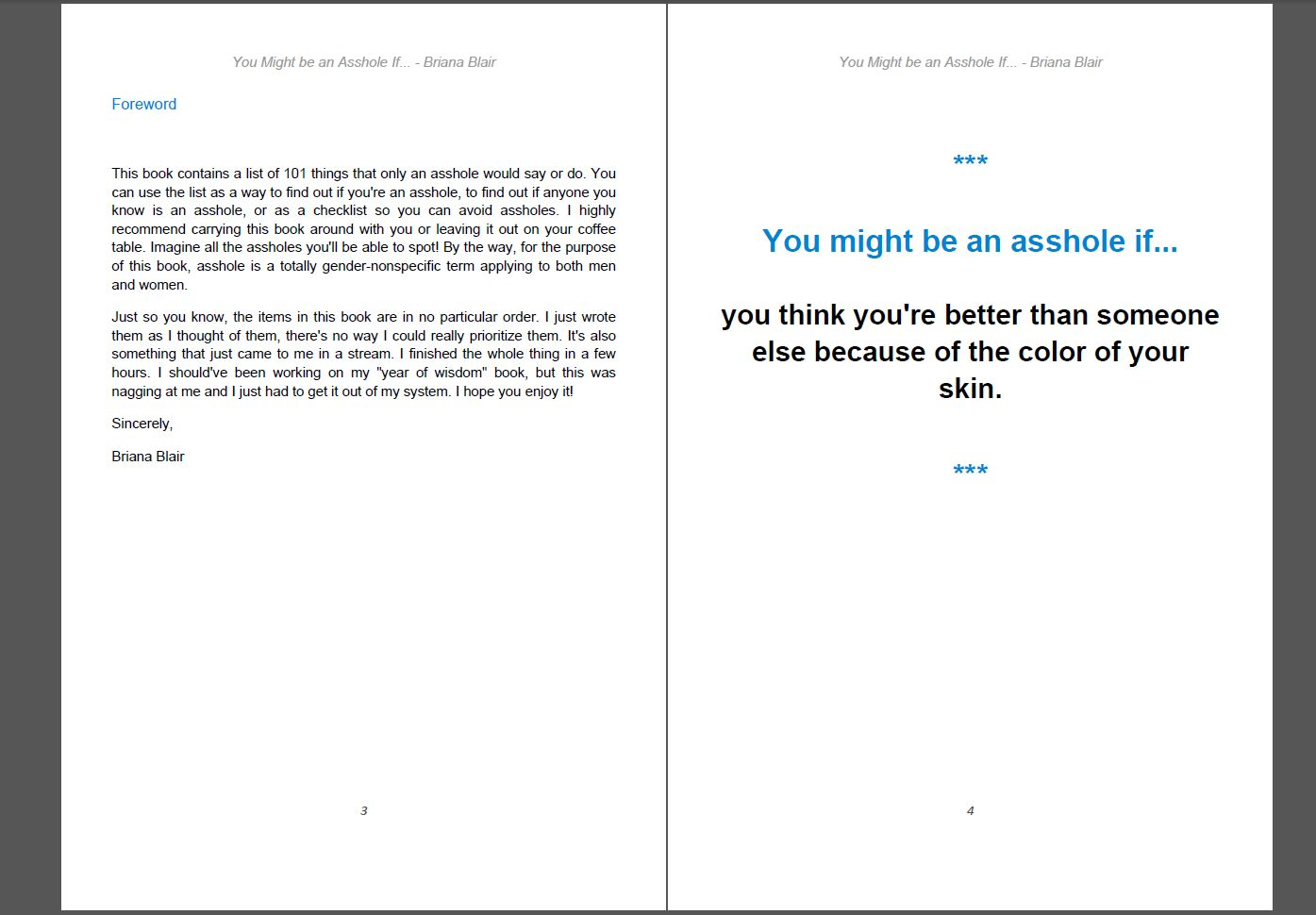 You Might Be an Asshole If... By Briana Blair eBook