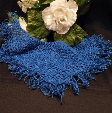 Doll Shawl Bright Blue Crocheted Monster Fashion Doll Wrap Accessory