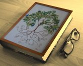 Beaded Wire Tree of Life Artistic Framed Sculpture Nature Art Signed Original