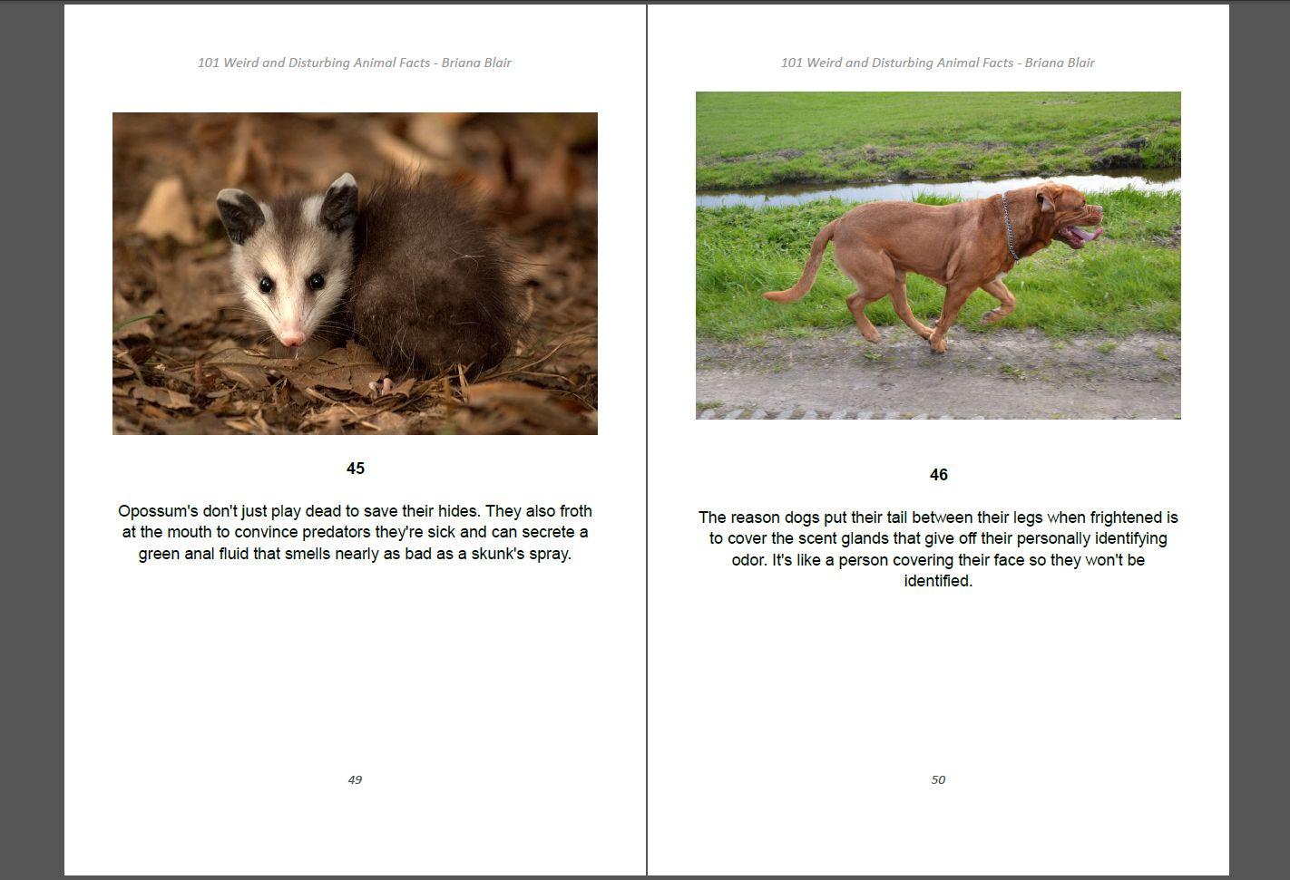 101 Weird and Disturbing Animal Facts by Briana Blair - Nature Ebook 3
