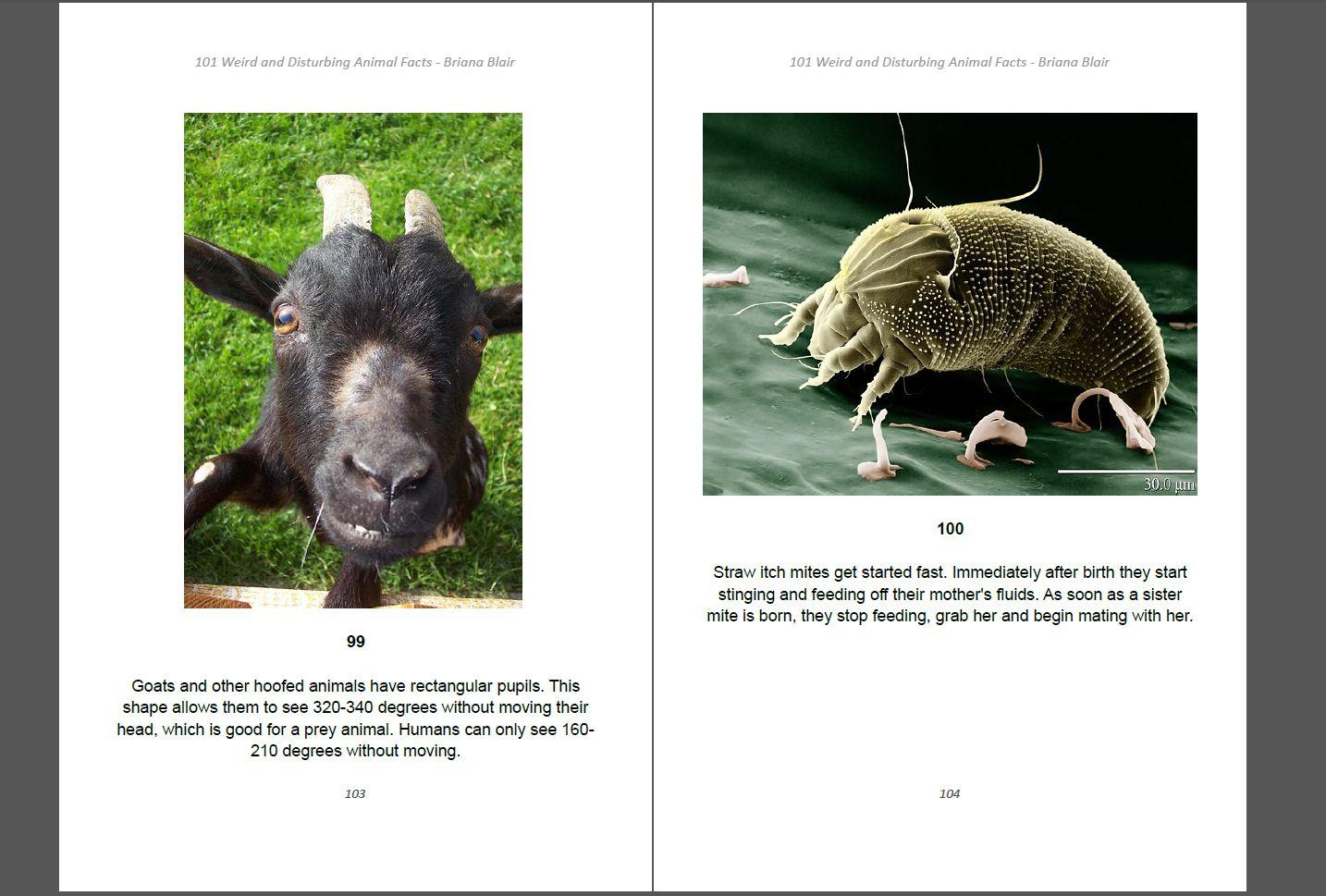 101 Weird and Disturbing Animal Facts by Briana Blair - Nature Ebook 4