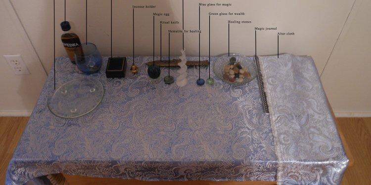 Altar Setup Pagan Wiccan Spiritual Tools