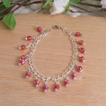 Necklace Earrings Bracelet Set Elegant Aurora Sterling Silver Chain 3