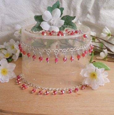 Necklace Earrings Bracelet Set Elegant Aurora Sterling Silver Chain