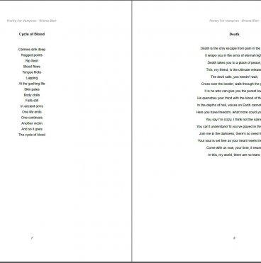 Poetry for Vampires by Briana Blair - Poetry Ebook 1