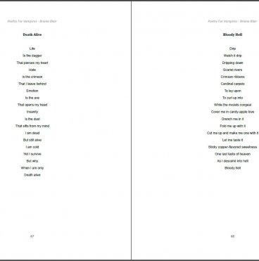 Poetry for Vampires by Briana Blair - Poetry Ebook 3