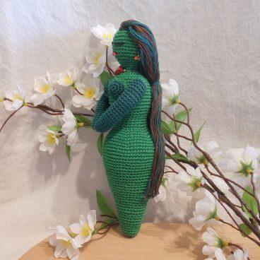 Amigurumi Crocheted Earth Goddess Doll side