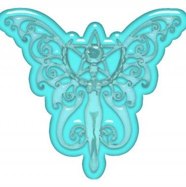 Aqua Crystal Winged Goddess