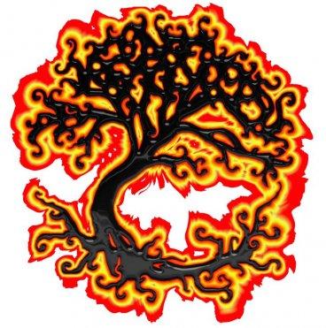 Burning Tree of Woe beading cross stitch pattern