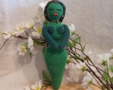 Crochet Goddess Green Amigurumi Doll - Goddess of Earth