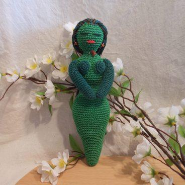 Crochet Goddess Green Amigurumi Doll - Goddess of Earth