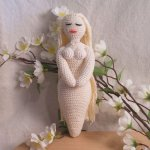 Crochet Goddess White Amigurumi Doll - Goddess of Air