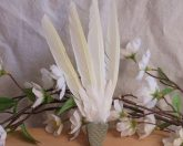 Natural Feather Green Smudge Fan Green 2 Smudging Wing Cleansing Ritual Magic Tool