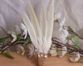 Natural Feather Orange Smudge Fan Orange Smudging Wing Cleansing Ritual Magic Tool