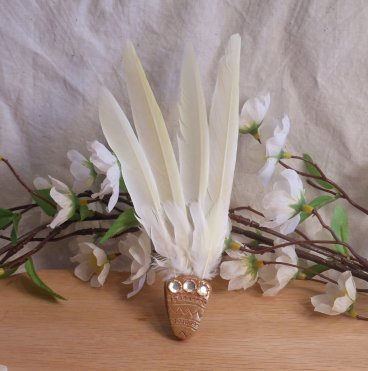 Natural Feather Orange Smudge Fan Orange Smudging Wing Cleansing Ritual Magic Tool
