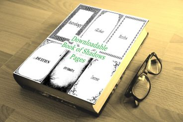 Printable Book of Shadows BOS Divider Pages and Stationery