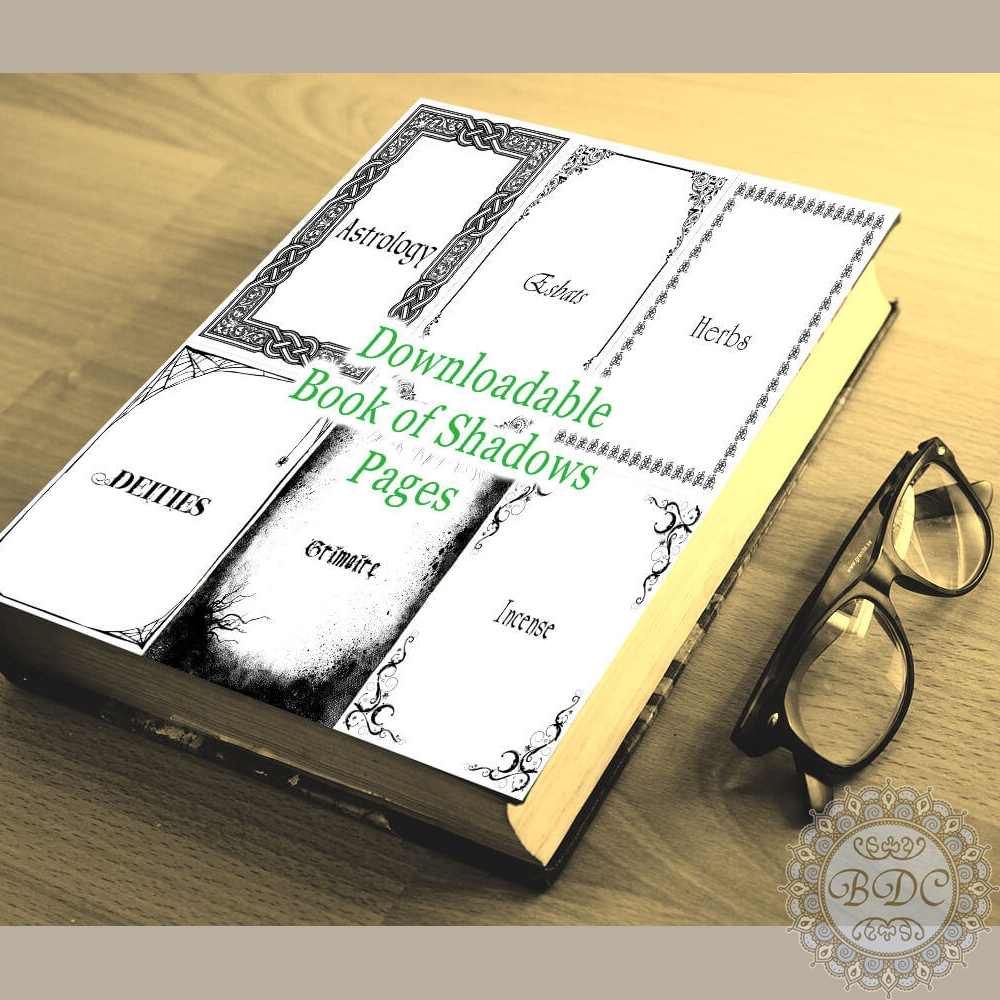photograph about Printable Book Shadows Pages called Printable Ebook of Shadows BOS Divider Web pages and Stationery