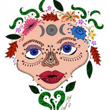 Zentangle Earth Goddess by Briana Blair