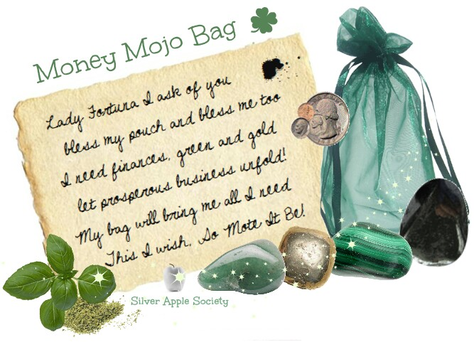Fortuna Money Mojo Bag Magic Pagan Spell
