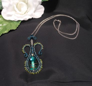 Green Amphora bottle Necklace
