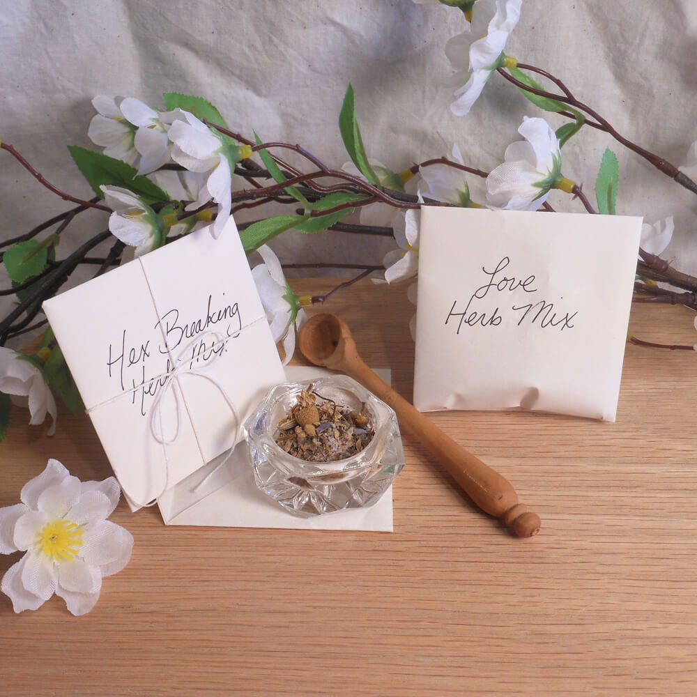Herbal Spell Salt Mix Packets for Ritual Spells Poppets
