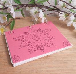 Pink Lotus Hand Bound Journal BOS 2