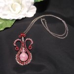 Red and Pink Amphora Necklace