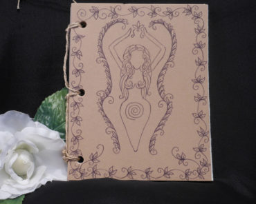 Tan Goddess Hand Bound Journal